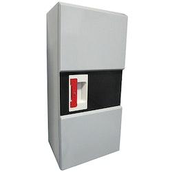 Plåtskåp typ design svart/grått 6-12 kg