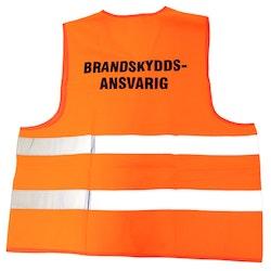 """Väst orange """"Brandskyddsansvarig"""""""