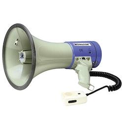 Megafon 25 W med separat mikrofon