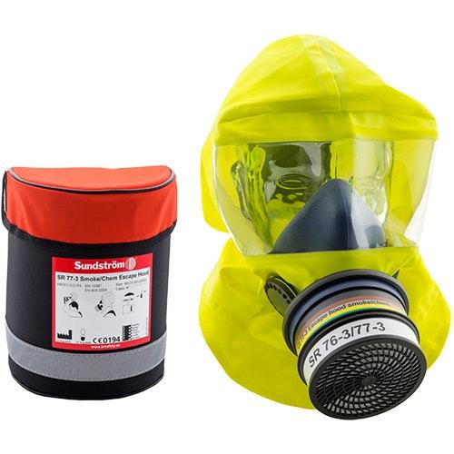 Flykthuva vid brand eller kemikalieolyckor