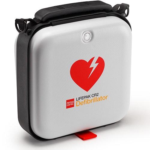 Väska till hjärtstartare CR2, vit