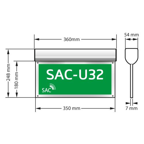 Hänvisningsarmatur SAC-U32