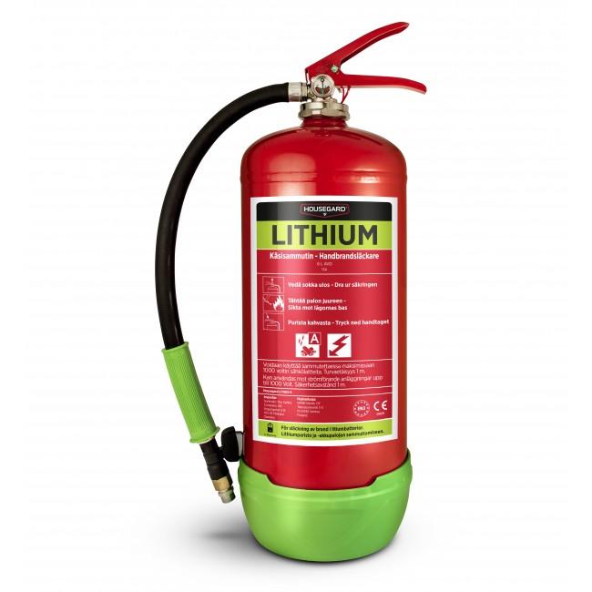 Lithium / AVD brandsläckare, 6 liter