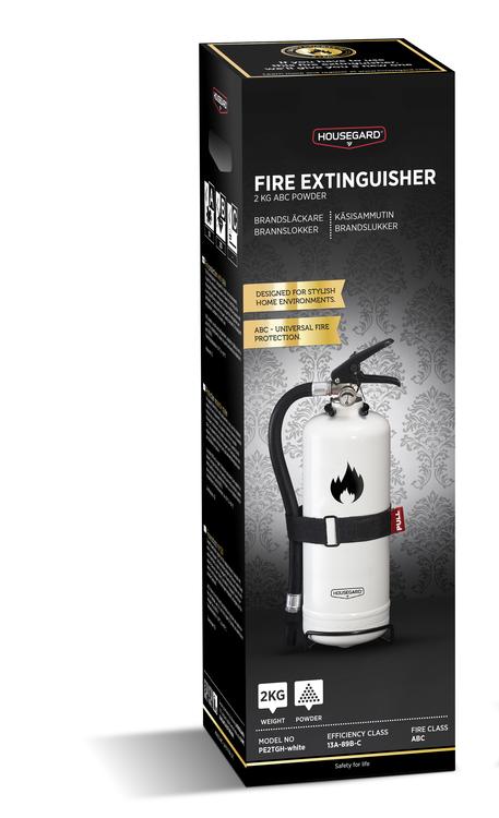 Design by Housegard 2 kg pulversläckare, vit