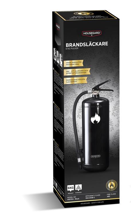 Design by Housegard 2 kg pulversläckare, svart