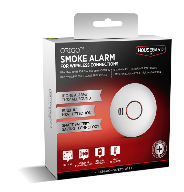Housegard Origo trådlös brandvarnare, 1-pack