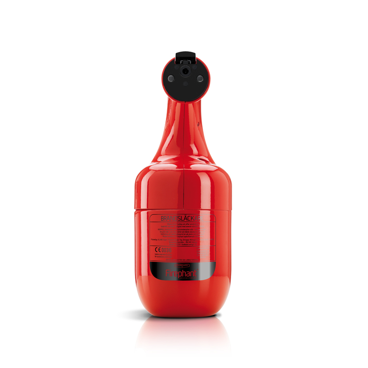 Firephant 1 kg pulversläckare, röd