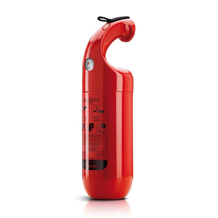 Firephant 2 kg pulversläckare, röd