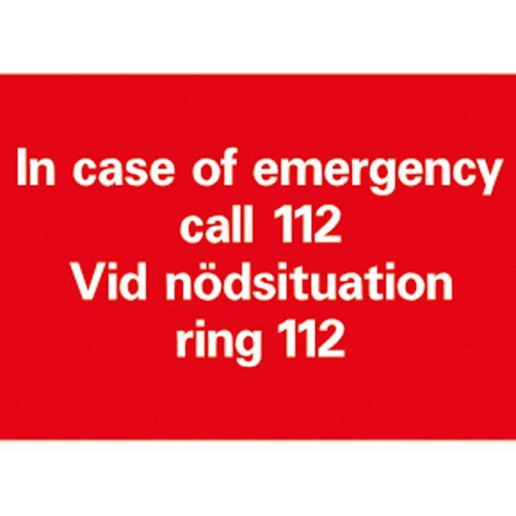 Vid Nödsituation Ring 112 A5