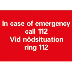 Vid Nödsituation Ring 112 A5