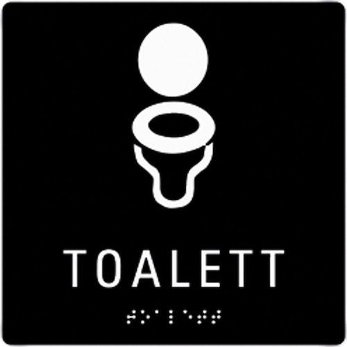 Taktil Skylt Toalett