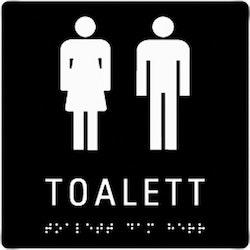 Taktil Skylt Toalett Dam Herr