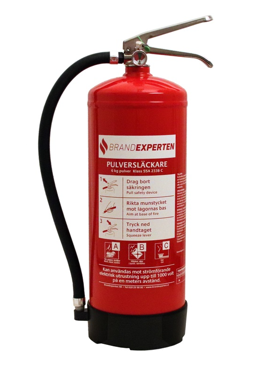 Brandsläckare Brandexperten pulver 6 kg