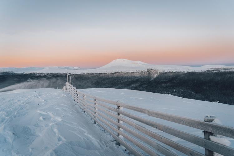 Soluppgång över Nipfjället-Städjan