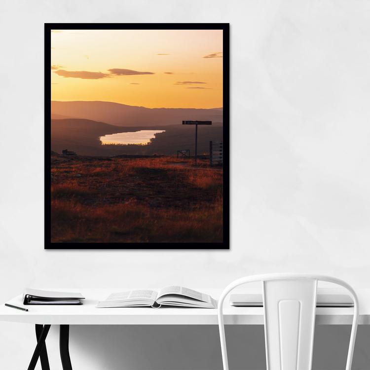Burusjön i solnedgång