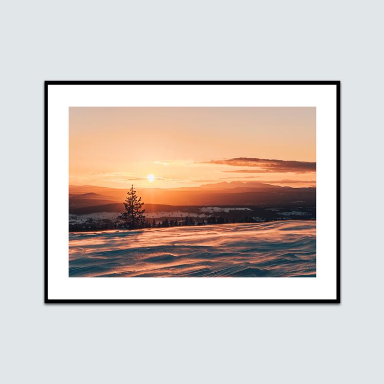 Solnedgång Himmelfjäll