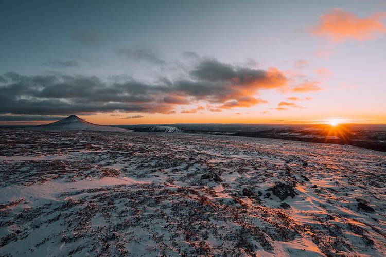 Solnedgång från Nipfjället