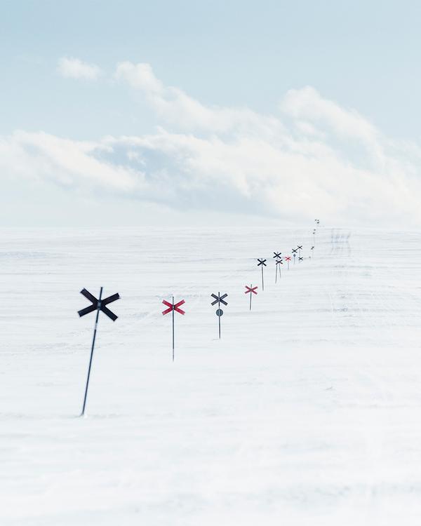 Canvas Vinterdag fjället ledkryss