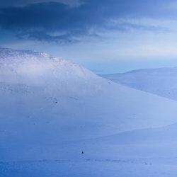 Tidig vintermorgon på Nipfjället