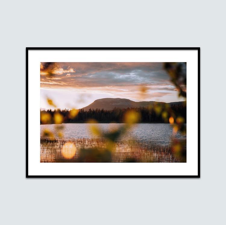 Sommar solnedgång Nipfjället