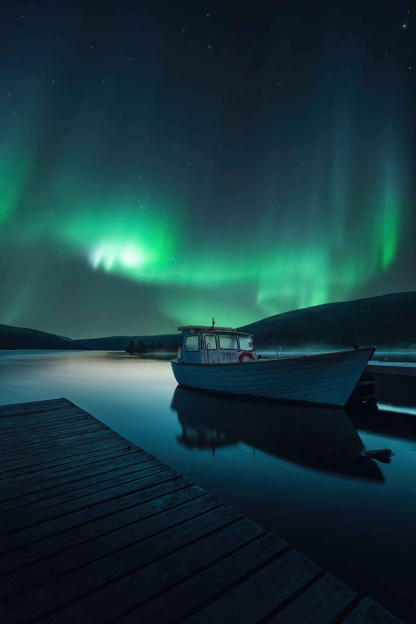 Canvas Norrsken Grövelsjön
