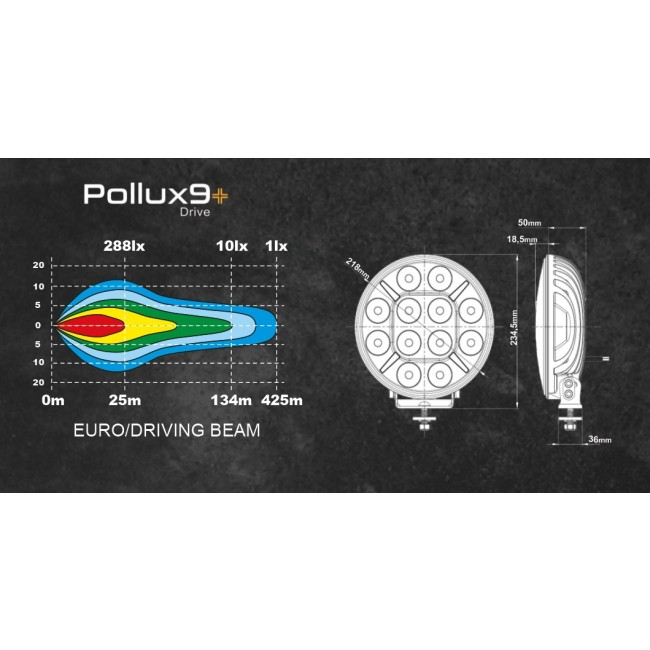 POLLUX 9+ LED EXTRALJUS 120W DRIVING/SPOT