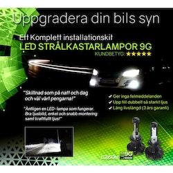 LED STRÅLKASTARLAMPOR 9G 6000K