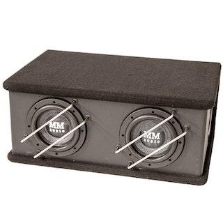 """MM AUDIO BOX SW 6,5"""" X2 KOMPLETT"""