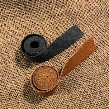 Lädergrepp Mocka/Skinn