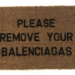 Doormat Balenciaga text