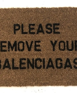 Doormat Balenciaga text