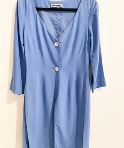 JIL SANDER silk blazer dress