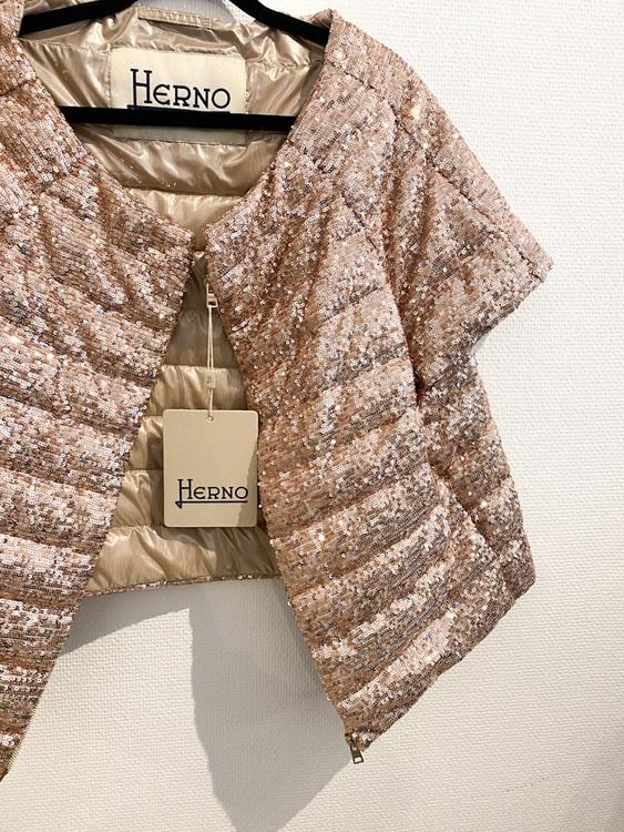 HERNO Glitter Puffer Jacket (M)