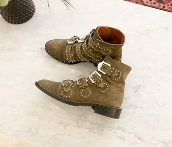 Givenchy Studded Suede Boots 38