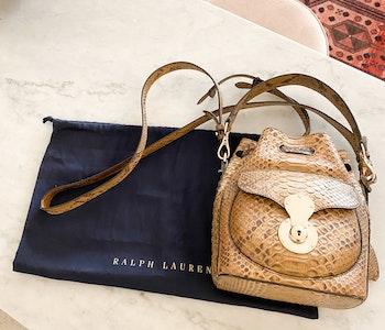 Ralph Lauren python bag