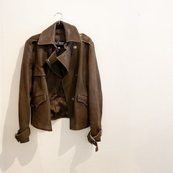 Armani leatherjacket strl.38