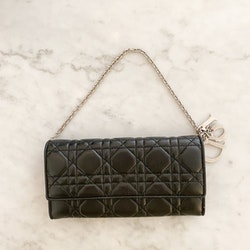 Dior Cannage Chain Wallet