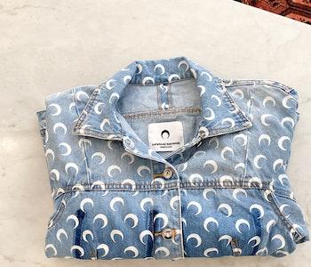 Marine Serre Upcycled Moon Denim Jacket