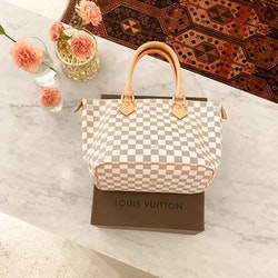 Louis Vuitton Saleya PM Damier Azur Tote Bag