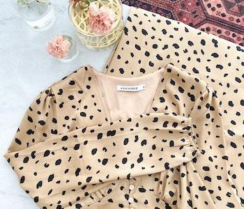 Adoore Paris Dress Leopard Strl.XL
