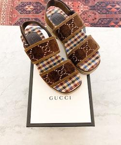 Gucci Velvet Sandals Strl.40