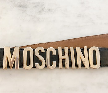 Moschino Leather Belt Vintage