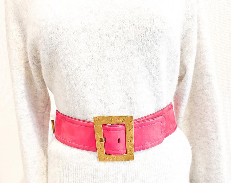 Givenchy Pink / Gold Belt