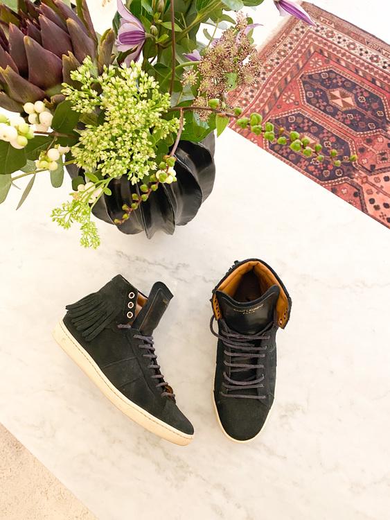 Saint Laurent Suede Sneakers Strl.36