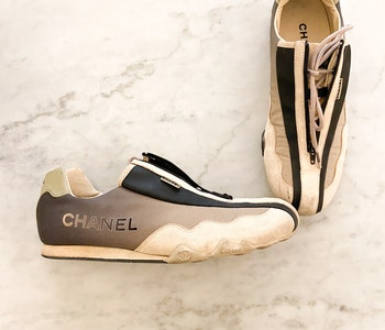 Chanel Vintage Sport Zip Up Sneakers Strl.37 1/2