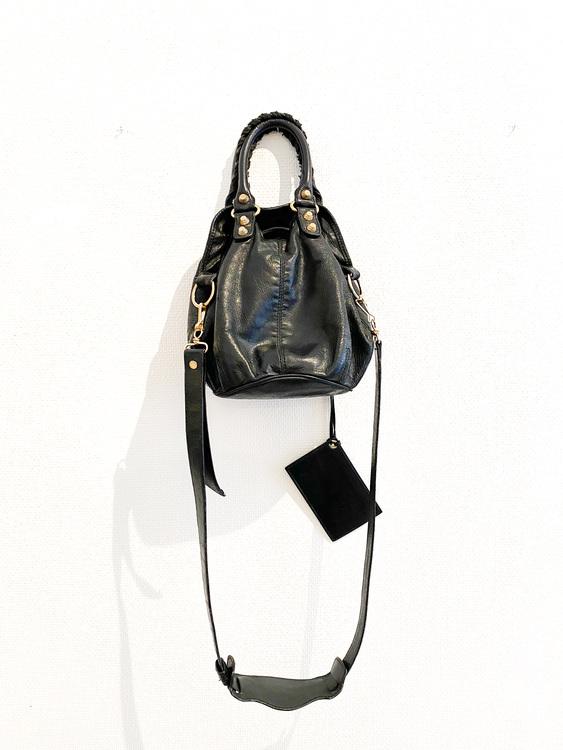 Balenciaga PomPon Mini Bucket Bag
