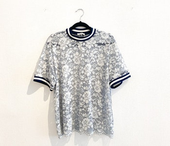 GANNI Lace T-Shirt (Medium)