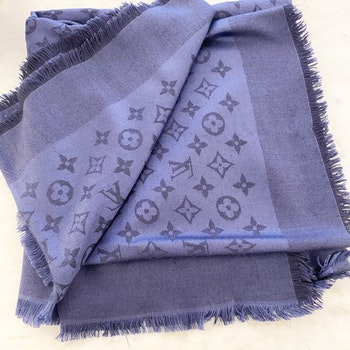 Louis Vuitton  Monogram Shawl Night Blue