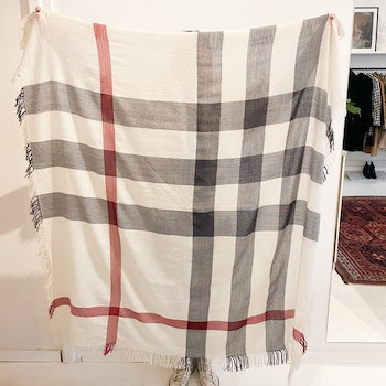 BURBERRY Color Check Merino  Scarf/ Shawl