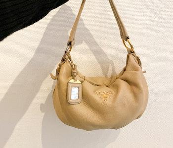 PRADA Hobo Leather Bag